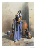 Fellah Woman and Child, Illustration from The Valley of the Nile, Engraved by Charles Bour Giclee Print by Achille-Constant-Théodore-Émile Prisse d'Avennes