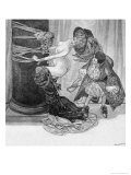 The Five Senses: Touch, c.1912 Giclee Print by Franz Von Bayros