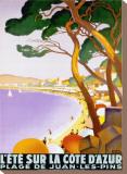 L'Ete sur la Cote d'azur Stretched Canvas Print by Roger Broders