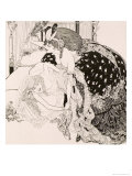 Lesbian Scene, Plate 13 from La Grenouillere, c.1912 Giclee Print by Franz Von Bayros
