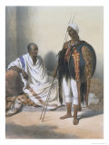 Abyssinian Priest and Warrior, the Valley of the Nile, Engraved by Lemoine, c.1848 Reproduction procédé giclée par Achille-Constant-Théodore-Émile Prisse d'Avennes