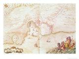 Louis XIV Atlas, Karte von Collioure, 1683-88 Giclée-Druck von Sebastien Le Pretre de Vauban