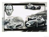 Stirling Moss Giclee Print by Graham Coton