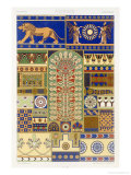 Assyrian Style, Plate XVII, Polychrome Ornament, Engraved by Dufour and Lebreton, Pub.Paris, 1869 Giclee Print by Albert Charles August Racinet