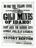 Handbill Advertising Steamer Voyages to the Gold Mines of Idaho, 1865 Giclee Print