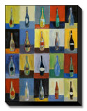 Vino Stretched Canvas Print by Joe Esquibel
