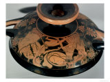 Funerary Urn Depicting Oedipus and the Sphinx Giclee Print by  Etruscan