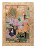 Khusrau Sees Shirin Bathing in a Stream, from the Khamsa of Nizami, 1539-43 Giclée-Druck