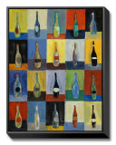 Vino Framed Canvas Print by Joe Esquibel