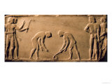 Young Men Playing with Sticks and a Ball, Statue Base, Dipylon Cemetery, Athens, c.510 BC Giclee Print by  Greek