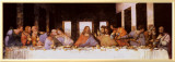 The Last Supper, c.1498 Framed Canvas Print by Leonardo da Vinci