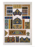 Persian No 3, Plate XLVI, from The Grammar of Ornament by Owen Jones Giclee Print by Owen Jones