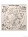 Map of the Southern Sky, Cardinal Lang Von Wellenburg Dedication, Imperial Copyright, 1515 Gicl&#233;e-Druck von Albrecht D&#252;rer