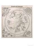 Map of the Southern Sky, Cardinal Lang Von Wellenburg Dedication, Imperial Copyright, 1515 Giclee Print by Albrecht Dürer