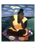 Woman Reading, 1997 Giclee Print by Laura James