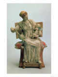Figurine of Aphrodite Playing with Eros, from Tanagra, Late 4th Century BC Giclee Print
