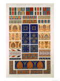 Greek No 8, Plate XXII, from The Grammar of Ornament by Owen Jones Giclee Print by Owen Jones