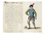 Nobleman Playing Football, Venetian Reproduction proc&#233;d&#233; gicl&#233;e par Jan van Grevenbroeck