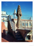 View of the Chimneys on the Western Sector of the Roof of the Palace, 1885-89 Giclee Print by Antoni Gaudí