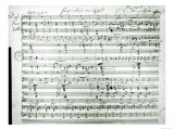 Autograph Score of Fragment Aus Dem Aischylos by Franz Schubert Giclee Print