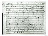 Autograph Score of Fragment Aus Dem Aischylos by Franz Schubert Giclee Print