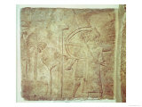 Relief from the Central Palace, Nimrud, Assyrian, 745-727 BC Reproduction procédé giclée par Assyrian