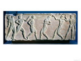 Young Men Playing a Ball Game, from a Statue Base Found in the Dipylon Cemetery, Athens Giclee Print by  Greek