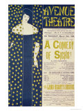 Poster Advertising A Comedy of Sighs, a Play by John Todhunter, 1894 Impresso gicle por Aubrey Beardsley