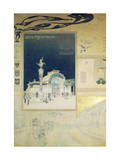 Stadtbahn Pavilion, Vienna Underground Railway, Exterior and a View of the Railway Platform Giclee Print by Otto Wagner
