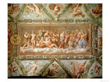The Council of the Gods, Ceiling Painting of the Courtship and Marriage of Cupid and Psyche Giclee Print by Raphael