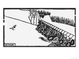 Die Mauer Giclée-Druck von Félix Vallotton