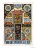 Renaissance Style Plate from Polychrome Ornament, Engraved by F. Durin, c.1869 Giclee Print by Albert Charles August Racinet