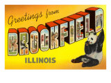 Greetings from Brookfield, Illinois Poster