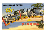 Greetings from Palm Beaches, Florida Prints