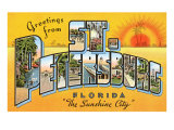 Greetings from St. Petersburg, Florida Poster