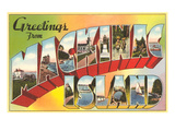 Greetings from Mackinac Island, Michigan Poster