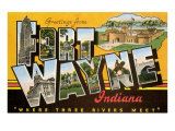 Greetings from Ft. Wayne, Indiana Reprodukcje
