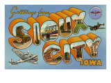 Greetings from Sioux City, Iowa Posters