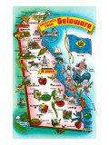 Map of Delaware Posters