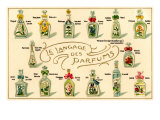 French Perfume Language Prints