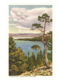 Emerald  Bay, Lake Tahoe Giclée-Premiumdruck
