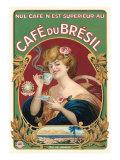 Etiquette Café du Brésil Affiches