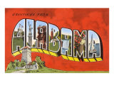 Greetings from Alabama Prints