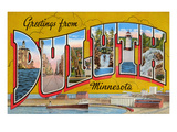 Greetings from Duluth, Minnesota Posters