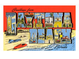 Greetings from Daytona Beach, Florida Prints