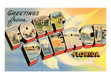 Greetings from Ft. Pierce, Florida Posters