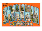 Greetings from Savannah, Georgia Prints