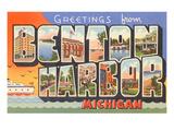 Greetings from Benton Harbor, Michigan Prints