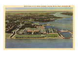 Aerial View, Naval Academy, Annapolis, Maryland Posters