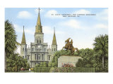 St. Louis Cathedral, New Orleans, Louisiana Posters